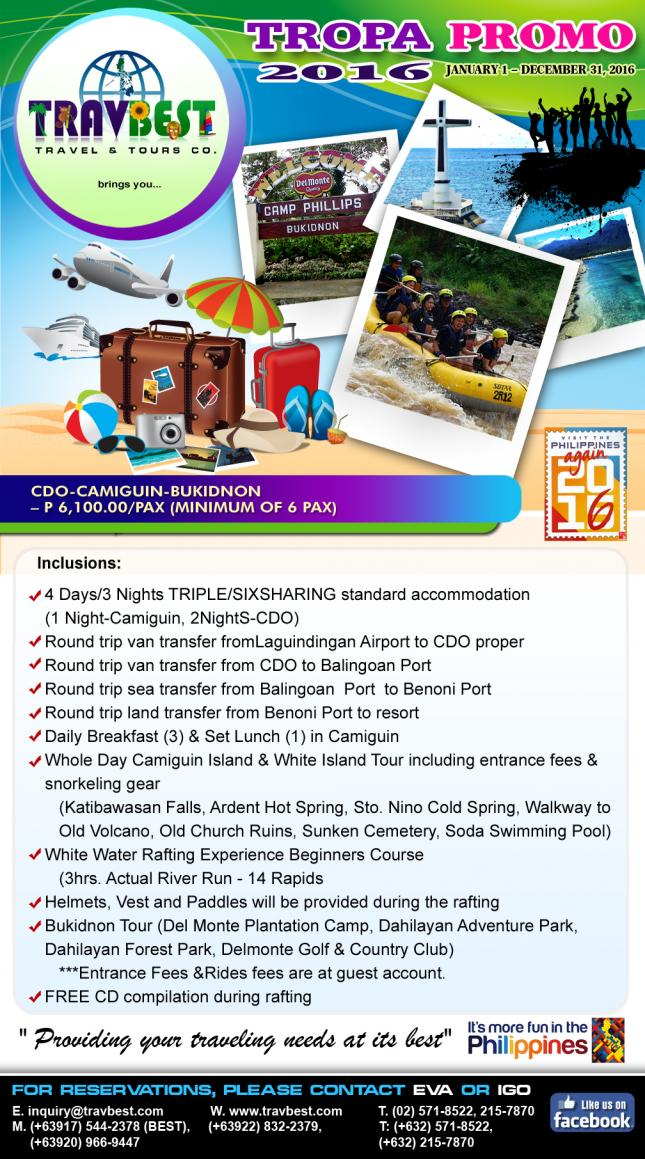Camiguin White Island Tour Package