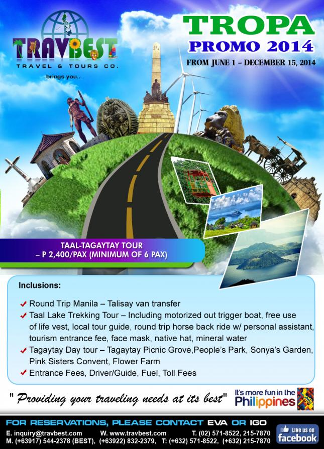 Taal Tagaytay Day Tour | Travbest Travel & Tours